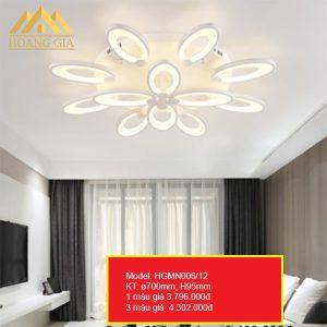 Đèn mâm ốp trần LED hiện đại cao cấp-HGMN006-12