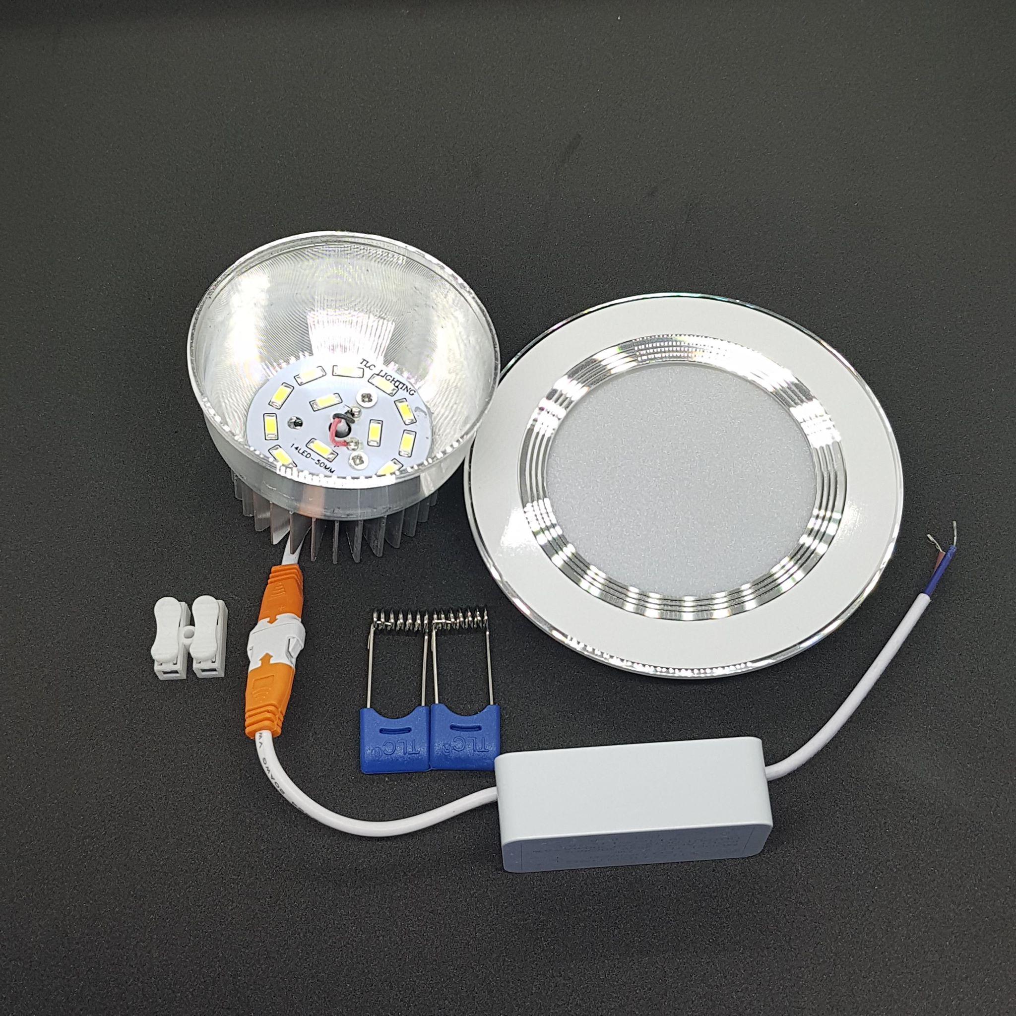 Các bộ phận cấu tạo của đèn led âm trần đế dày