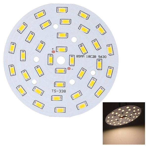 Chip led của đèn led âm trần mặt cong đế dày