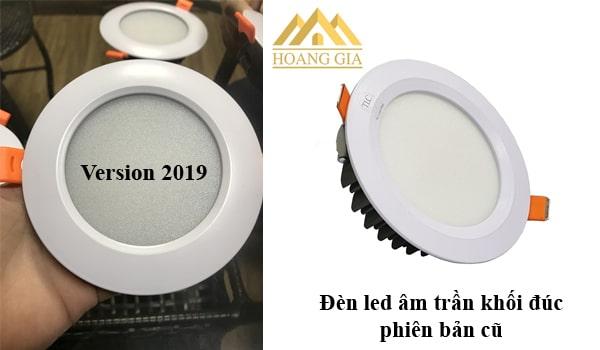 Đèn led âm trần khối đúc version 2019 sử dụng chip led Bridgelux
