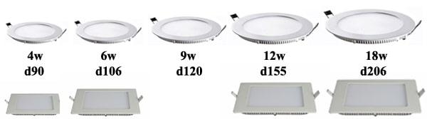 Các loại đèn led âm trần phẳng – đèn led âm trần siêu mỏng