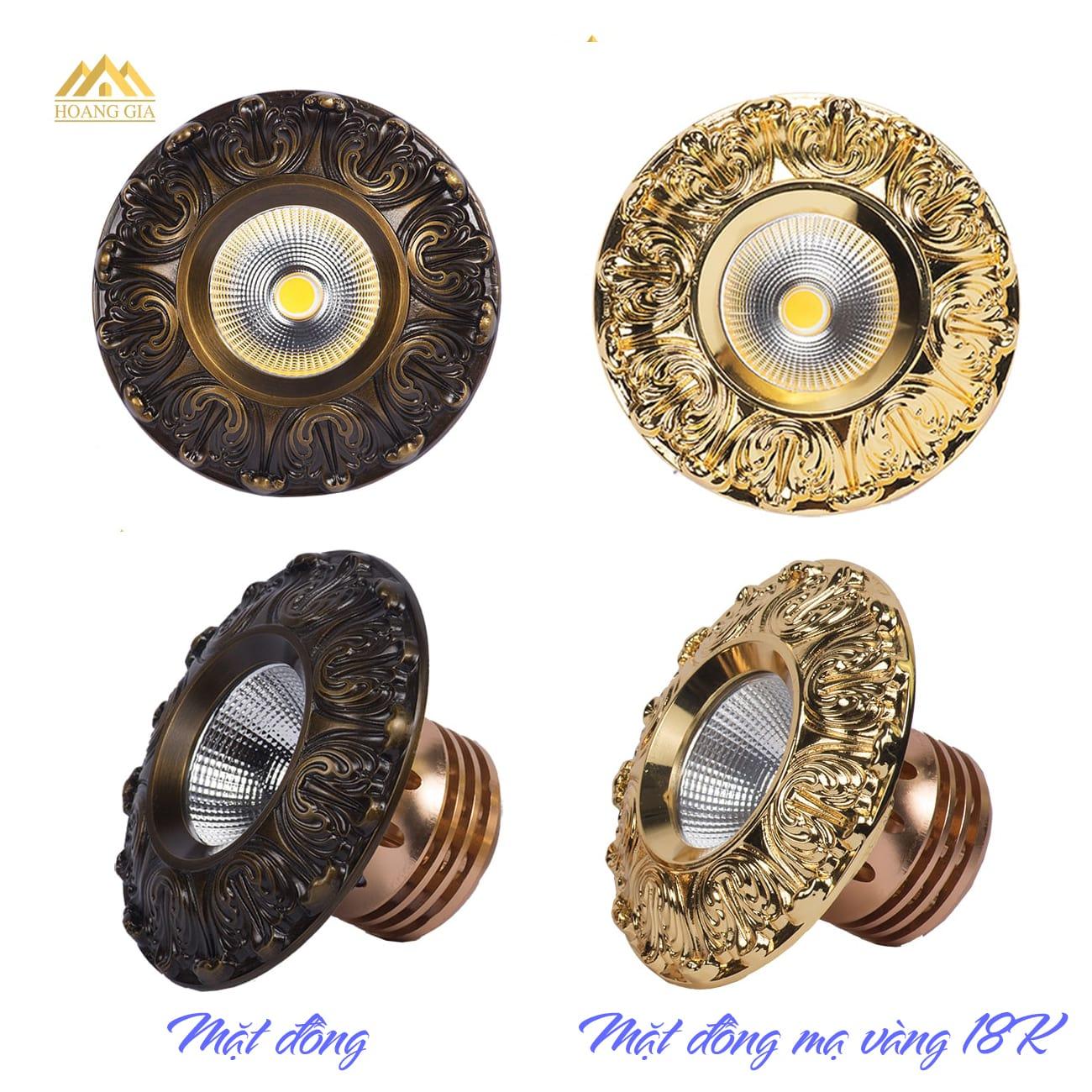 Một số hình ảnh đèn led âm trần cổ điển