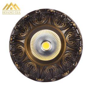 Đèn led âm trần cổ điển 10w mặt đồng TLC-CDS-10W01