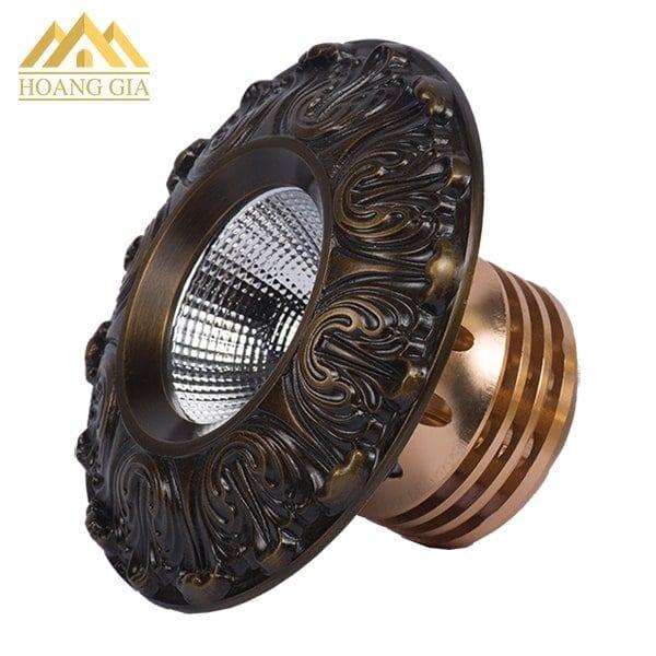 Đèn led âm trần cổ điển hoa văn mặt đồng TLC Lighitng model TLC-CDS-10W01