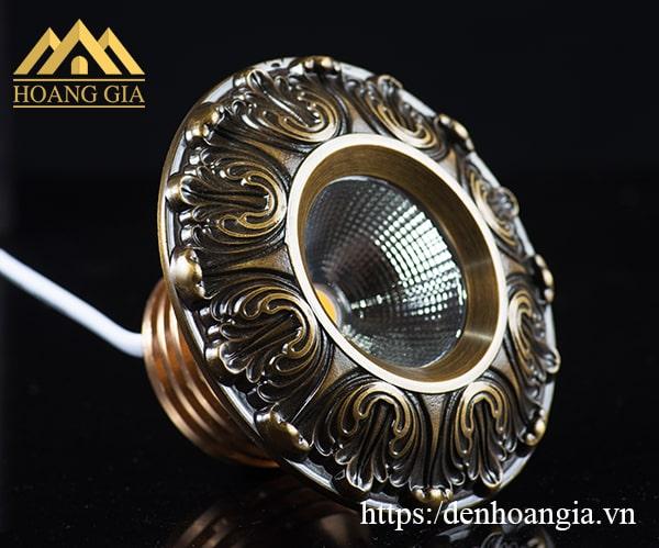 Đèn led âm trần cổ điển hoa văn mặt đồng Hãng TLC Lighitng model TLC-CDS-10W01