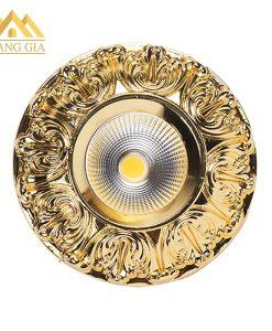 Đèn led âm trần cổ điển hoa văn mặt mạ vàng 18K hãng TLC Ligthing
