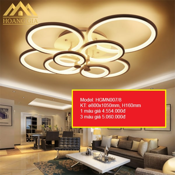 Đèn mâm LED Mica HGMN007/8