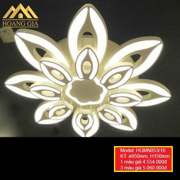 Đèn mâm LED Mica hiện đại 16 cánh 1 màu, 3 màu HGMN053/16
