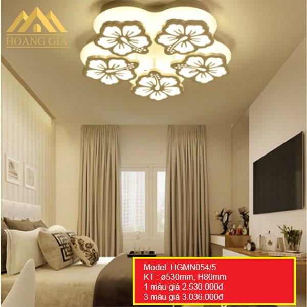 Đèn mâm LED Mica hiện đại 5 cánh 1 màu, 3 màu HGMN054/5