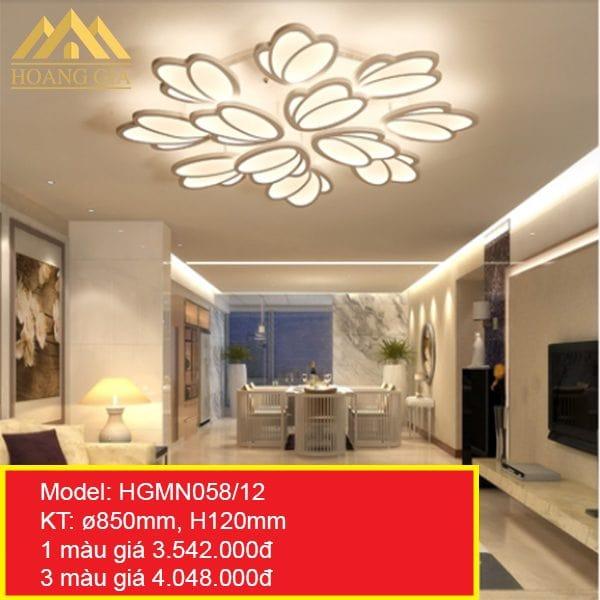 Đèn mâm LED mica HGMN058-12
