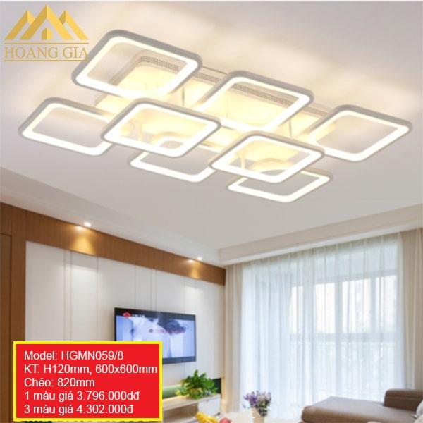 Đèn mâm LED Mica hiện đại 15 cánh 1 màu, 3 màu HGMN059/8