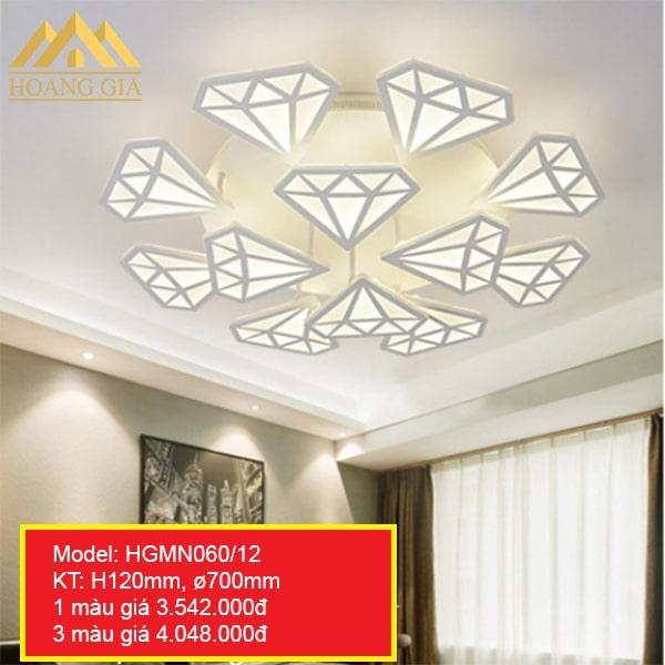Đèn mâm LED mica HGMN060-12