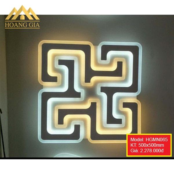 Đèn mâm LED Mica hiện đại 1 màu, 3 màu HGMN065