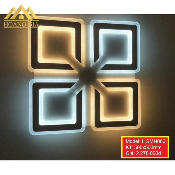 Đèn mâm LED Mica hiện đại 1 màu, 3 màu HGMN066