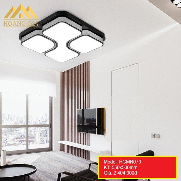 Đèn mâm LED Mica hiện đại 1 màu, 3 màu HGMN070