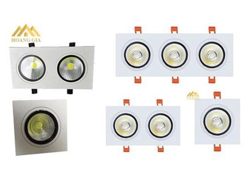 đèn downlight âm trần mặt vuông