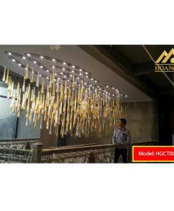 Đèn mâm pha lê LED HGCT006