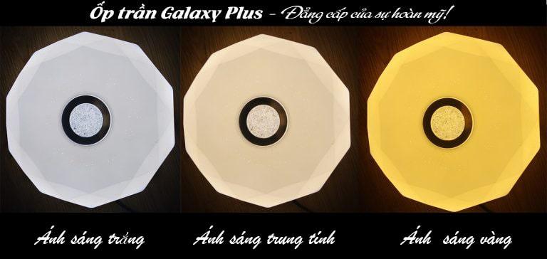 Den led op tran Galaxy Plus trang tri