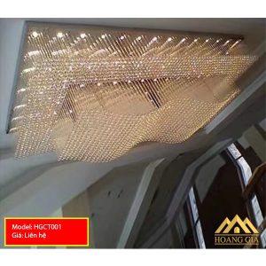 Đèn mâm pha lê LED HGCT001