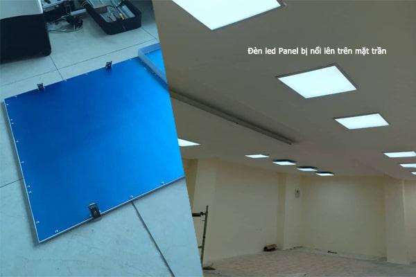 Hình ảnh đèn led Panel 600x600 siêu mỏng được gắn tai cài lò xo và lắp cho trần chìm thạch cao