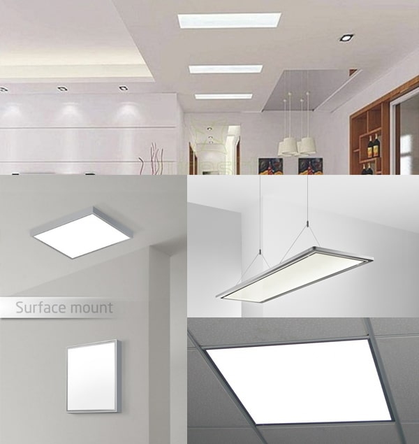 Các kiểu lắp đèn led Panel