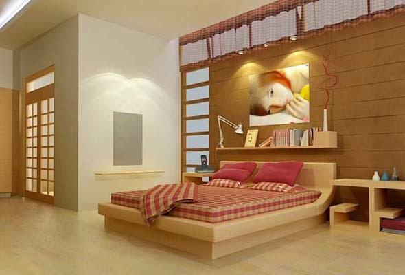 Lắp đèn led rọi tranh trong phòng ngủ với diện tích tranh nhỏ
