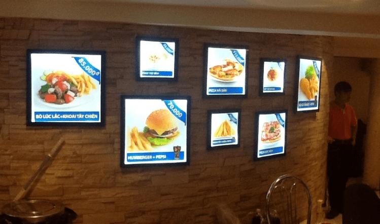 Sử dụng đèn led Panel 300x300 trong ứng dụng rọi tranh ảnh làm hộp đèn quảng cáo thu hút mọi người