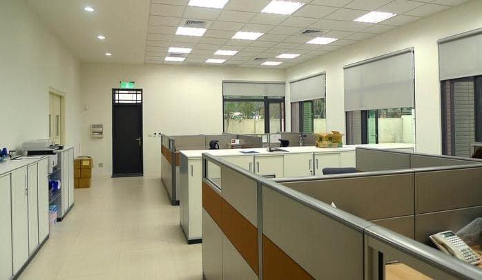 Bố trí đèn led Panel 600x600 cách nhau 1m2