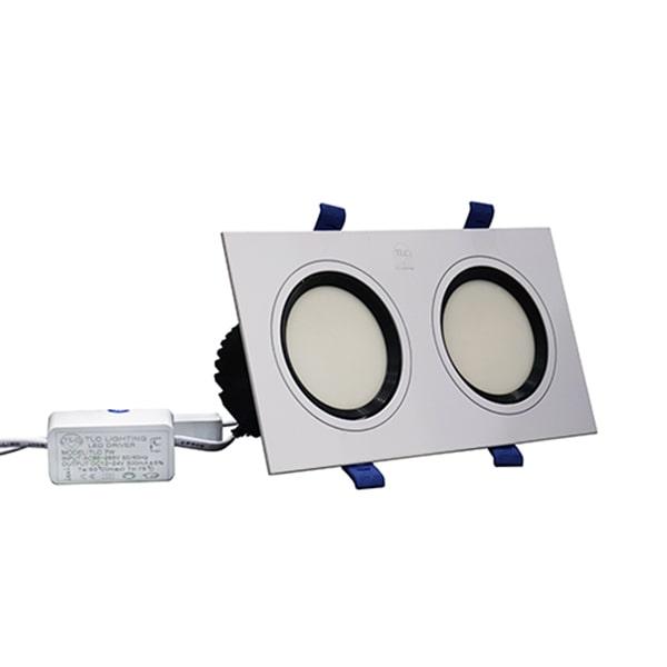 Giá đèn led downlight âm trần đôi chống chói