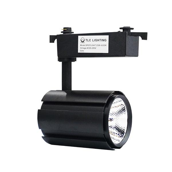 Giá đèn led rọi ray 2 lớp vỏ đen TLC