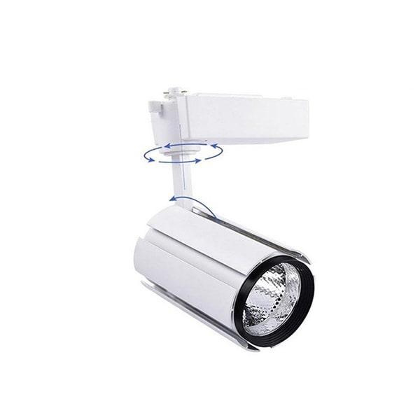 Giá đèn led rọi ray 2 lớp vỏ trắng TLC