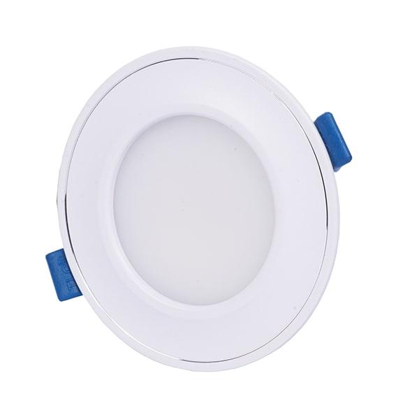 Giá đèn led âm trần mặt cong đế mỏng viền trắng TLC