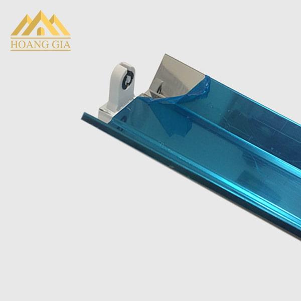 Máng đèn tuýp 1 bóng 1.2m chóa inox phản quang