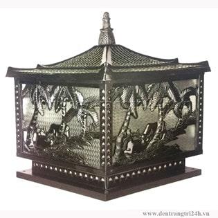 Đèn trụ cổng thiết kế theo phong cách cổ điển