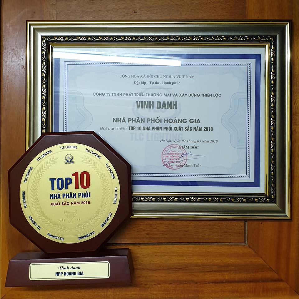 Đèn Led Hoàng Gia - TOP 10 Nhà Phân phối xuất sắc nhất Đèn Led TLC Lighting
