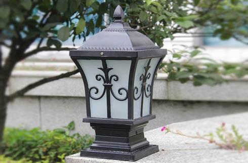 Thiết kế đèn trụ cổng Led theo phong cách hiện đại