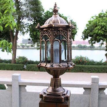 Sử dụng bóng đèn led cho đèn trụ cổng sân vườn giúp đèn có tuổi thọ cao hơn