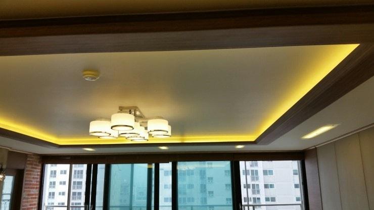 Bố trí đèn hắt trần thạch cao