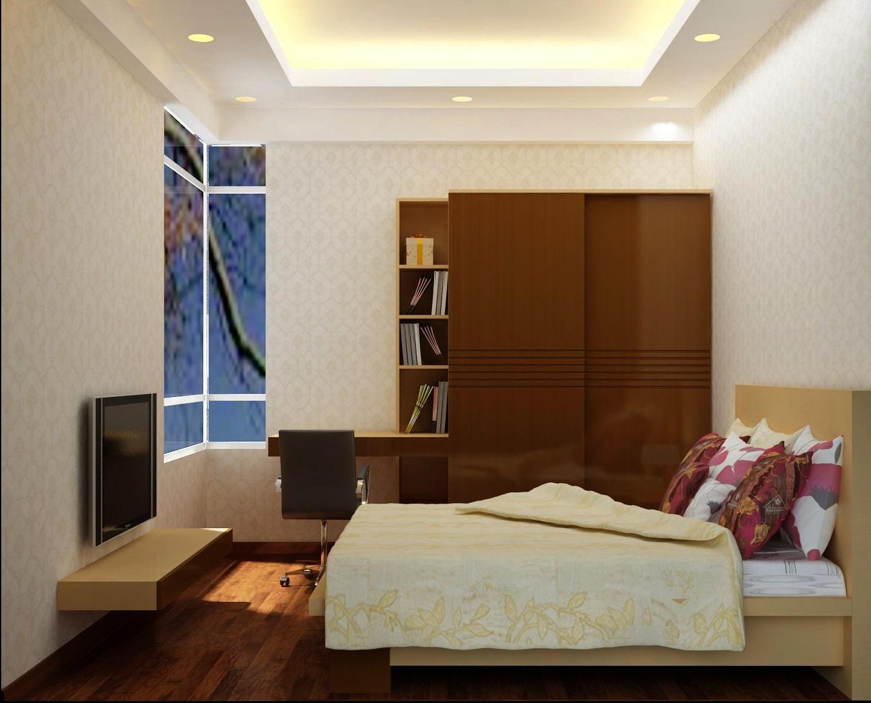Bố trí đèn trần phòng ngủ với đèn led âm trần