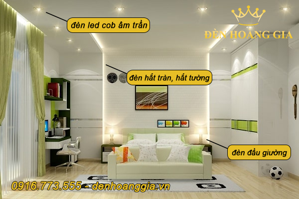 Các loại đèn chiếu sáng trong phòng ngủ
