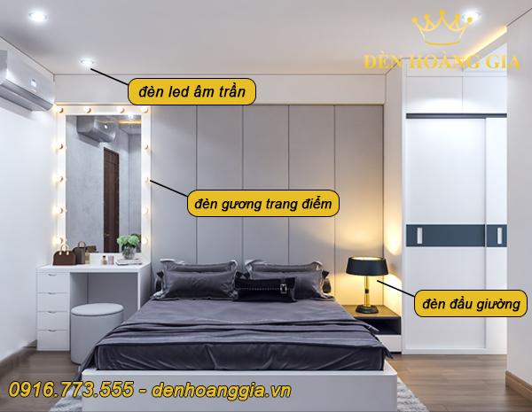Các nguồn ánh sáng trong phòng ngủ