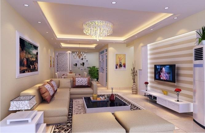 Cách bố trí đèn trần thạch cao hoàn hảo nhất cho phòng khách