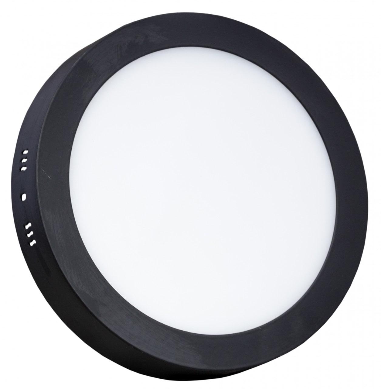 đèn led ốp trần vỏ đen hình tròn