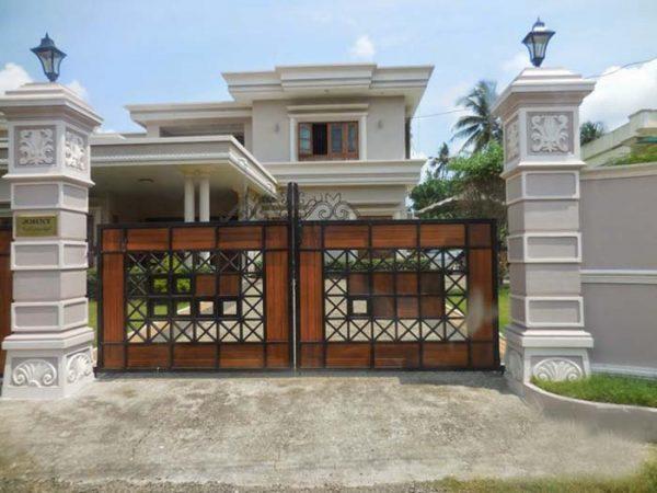 Thiết kế đèn trụ cổng hài hòa hợp với cổng nhà