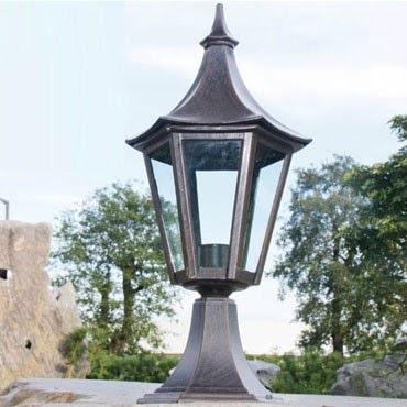 Độ bền của đèn trụ cổng bằng gang cao, chống thấm nước tốt