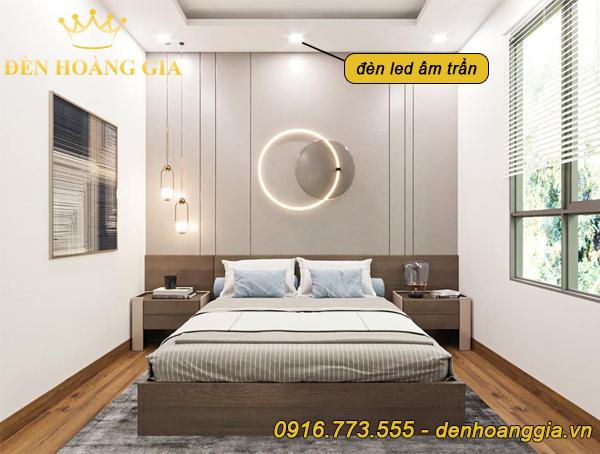 Phòng ngủ lắp đèn led âm trần