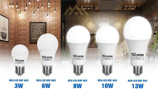 Công suất đèn led Búp BOS TLC OSRAM