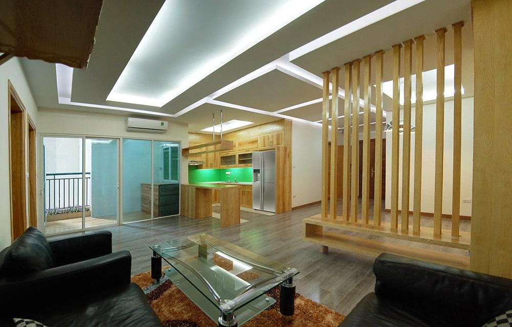 Căn phòng sử dụng ánh sáng gián tiếp thay cho ánh sáng trực tiếp