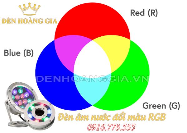 Chế độ màu RGB của đèn led âm nước
