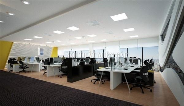 Chiếu sáng văn phòng làm việc với đèn led Panel 600x600